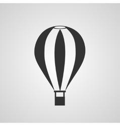 Vintage hot air balloon flat style vector image vector image