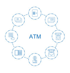 8 atm icons vector