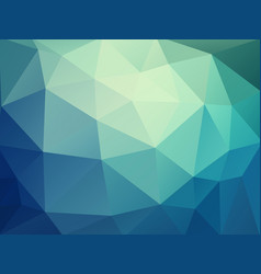 abstract blue green polygonal pattern vector image