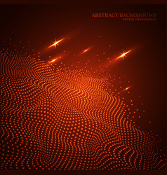 abstract dotted glowing wave background 3d effect vector image