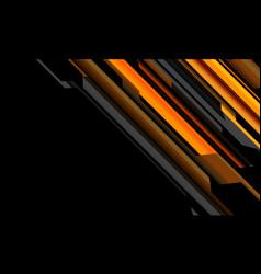 Abstract yellow orange grey cyber circuit on black vector