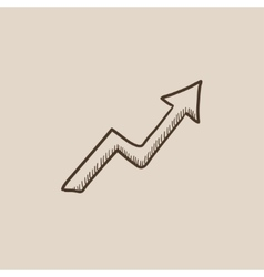Arrow upward sketch icon vector image