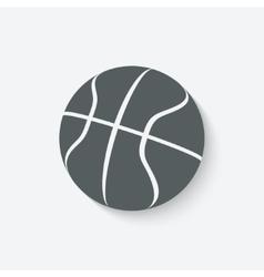 Basketball icon vector