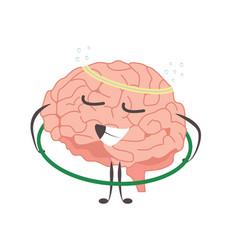 brain charactersathlete gymnast making sport vector image