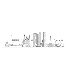 brisbane a big skyline queensland australia vector image