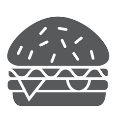 burger glyph icon food and meal hamburger sign vector image