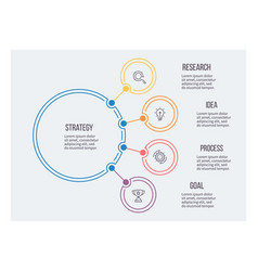 Business infographic circular chart with 4 vector