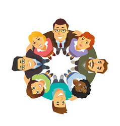 Business team - cartoon people character isolated vector
