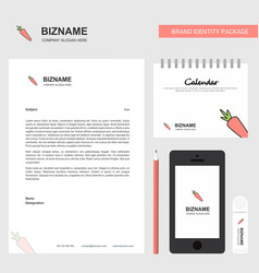 carrot business letterhead calendar 2019 and vector image