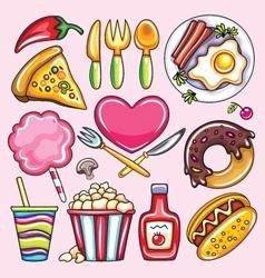cartoon foods vector image