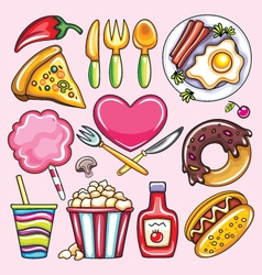 cartoon of foods vector image