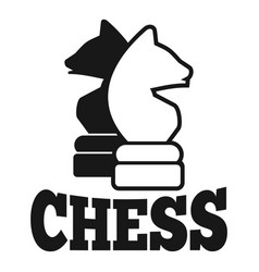 Chess thinking logo simple style vector