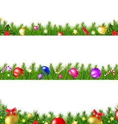 Christmas Fir Tree Borders vector image vector image