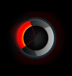 circular lighting scene vector image