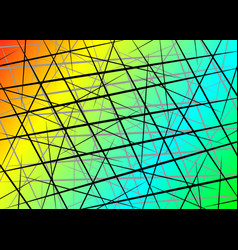 Colorful random chaotic lines scattered lines vector