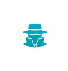 Detective blue head sheriff logo vector