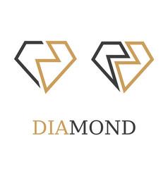Diamond simple symbol vector