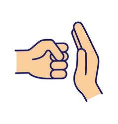 Domestic violence color icon vector
