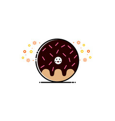 donut chocolate mbe style logo vector image
