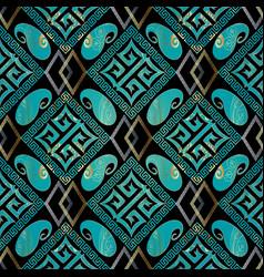 elegance geometric seamless pattern black vector image
