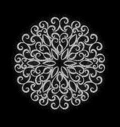 Elegant vintage graceful ornament vector