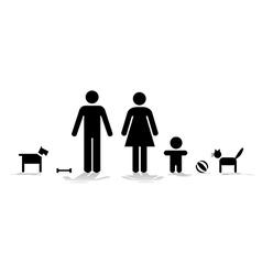 Family symbol vector