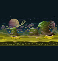 Fantasy space seamless game landscape planet game vector