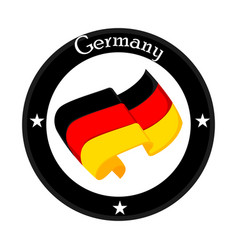 Flag of germany on a label vector