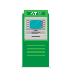flat atm machine icon vector image