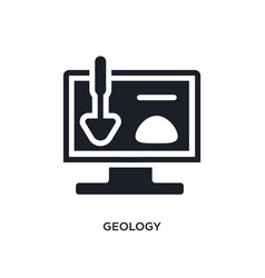 Geology isolated icon simple element from vector