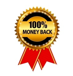 Gold Label 100 Money back vector image