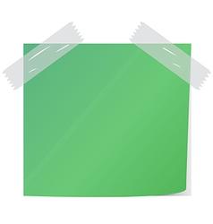 green post it vector image