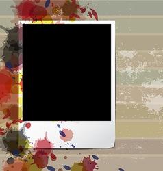Grunge old frame picture design vector