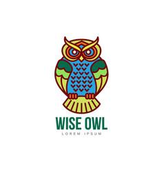 hand drawn stylized owl bird icon vector image