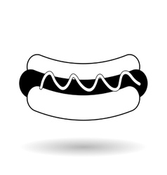 Hot dog icon design vector