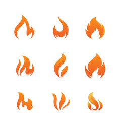 hot flame fire icon vector image