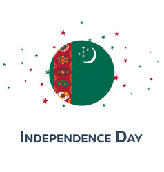 Independence day of turkmenistan patriotic banner vector
