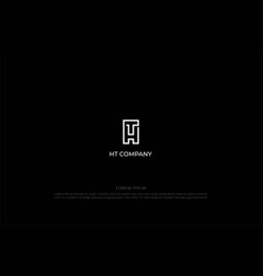 Initial letter th ht monogram line outline logo vector