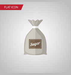 Isolated sugar bag flat icon sack element vector