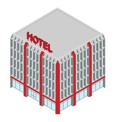 isometric hotel icon vector image