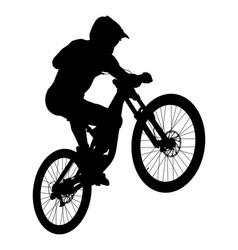 jump athlete rider mtb vector image