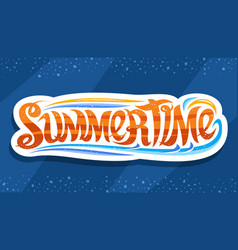lettering for summer time vector image