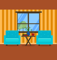 living room interior with armchairs vector image