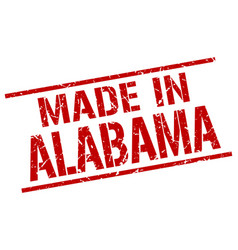 Made in alabama stamp vector