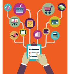 Management business and payment flat style vector