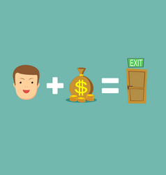 Money helps to find a way out vector