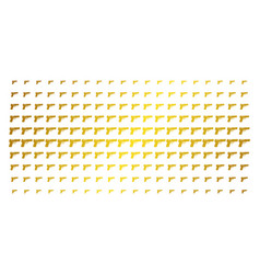 Pistol gun gold halftone pattern vector