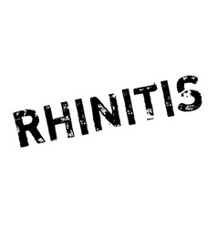 rhinitis rubber stamp vector image