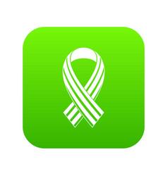 Ribbon lgbt icon digital green vector