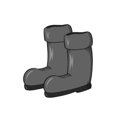 Rubber boots icon black monochrome style vector image